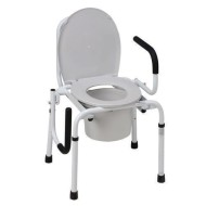DMI Drop Arm Steel Commode