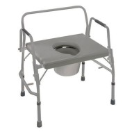 DMI Extra Heavy Duty Drop Arm Steel Commode