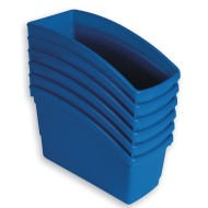 Book Bins Set, Blue (Pack of 6)