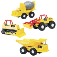 American Plastic Toy® Construction Vehicle Assortment (Pack of 16)