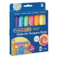 Creativity Street® Glide-on Tempera Sticks, Neon (Set of 6)