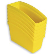 Book Bins Set, Yellow (Pack of 6)