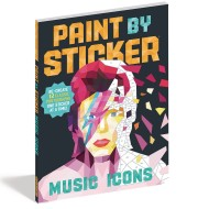 Paint by Sticker® Book: Music Icons