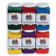 Color Splash!® Washable Finger Paints (Set of 6)
