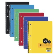 1-Subject Wide Ruled Spiral Notebooks Value Pack (Pack of 24)