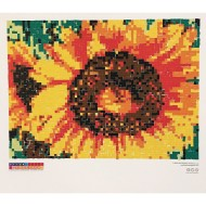 Collaborative Sticker Mosaic, Sunflower