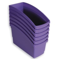 Book Bins Set, Purple (Pack of 6)