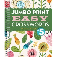 Jumbo Print Easy Crosswords Book 5