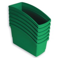 Book Bins Set, Green (Pack of 6)