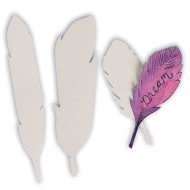 Watercolor Paper Shapes, Feathers (Pack of 60)