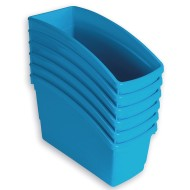 Book Bins Set, Bright Blue (Pack of 6)