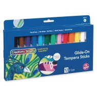 Creativity Street® Glide-on Tempera Sticks, Primary Colors (Set of 12)