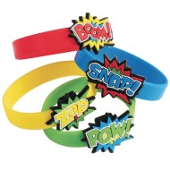 Super Hero Rubber Bracelet Pack (Pack of 12)