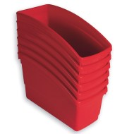Book Bins Set, Red (Pack of 6)