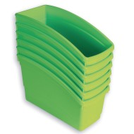 Book Bins Set, Lime (Pack of 6)