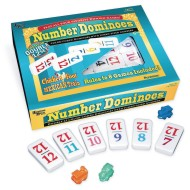 Double 12 Color-Coded Number Dominoes