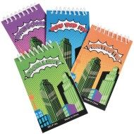 Super Hero Spiral Mini Notepad Pack (Pack of 12)