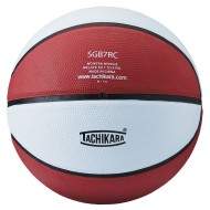 Tachikara® Official Size Rubber Basketball, Red/White