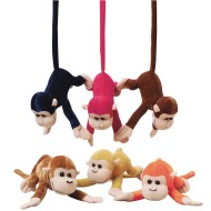 Little Stuffed Monkeys with Bendable Tails (Pack of 12)
