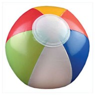 "Multicolored Beach Ball, 6"" (Pack of 12)"