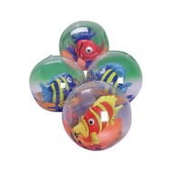 Inflatable 3-D Tropical Fish Beach Balls (Pack of 12)