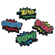 Super Hero Erasers (Pack of 12)