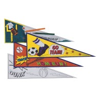 Team Pride Pennants Craft Kit (Pack of 24)