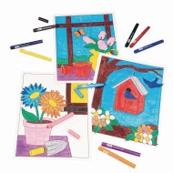 Floral Still Life Posters Craft Kit (Pack of 12)