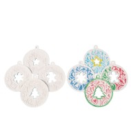 Color-Me™ Embossed Holiday Ornaments (Pack of 12)
