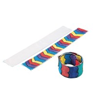 Color-Me™ Fabric Slap Bracelet (Pack of 24)