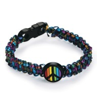 Rainbow Peace Sign Bracelets Craft Kit (Pack of 24)
