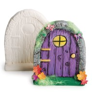 Color-Me™ Ceramic Bisque Fairy Door (Pack of 12)