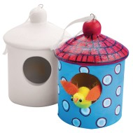 Color-Me™ Ceramic Bisque Birdhouse (Pack of 12)