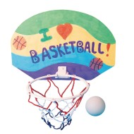 2 Points! Basketball Hoops Craft Kit (Pack of 12)