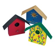 Mini Wood Birdhouse Magnet Craft Kit (Pack of 12)