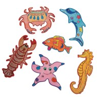Wood Sea Life Magnets Craft Kit (Pack of 12)