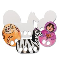 Color-Me™ Paper Finger Puppets (Pack of 24)