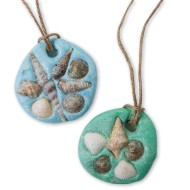 EduCraft® Sand Dollar Necklace Craft Kit (Pack of 48)