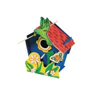 Wooden Birdhouse Craft Kit (Pack of 12)
