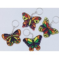 Butterfly Sun Catcher Keychain Craft Kit (Pack of 12)