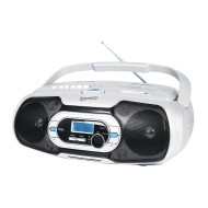 Bluetooth Portable Audio System - CD, Cassette, MP3, Bluetooth, USB, and AUX