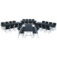Lifetime® 4 Folding Tables and 32 Chairs Value Pack, 8' (Set of 36)