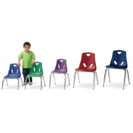 Berries™ Chairs with Chrome Plated Legs, 18