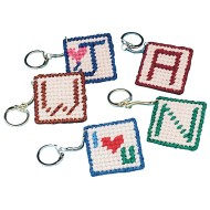 Allen Diagnostic Module Needlepoint Initial Key Rings (Pack of 24)