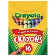 Crayola® Regular Size Crayons, Box of 16 (Pack of 12)