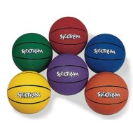 Spectrum™ Rubber Basketball Set,  (Set of 6)