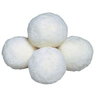 White Fleece Balls,