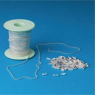 Silver Bead Chain Roll