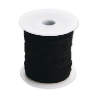 Black Medium Elastic Cord, 100 Yards