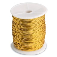 Metallic Gold Stretch Cord
